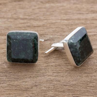 Novica Sterling silver cufflinks, Minimalism - Modern Sterling Silver Cufflinks