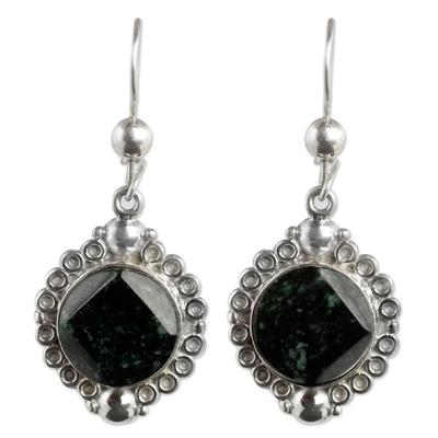 Handcrafted Sterling Silver Jade Dangle Earrings