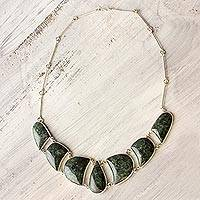 Jade pendant necklace,