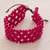 Wood beaded wristband bracelet, 'Soul Star' - Fair Trade Magenta Wood Beaded Wristband Bracelet (image 2b) thumbail