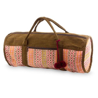 Novica Cotton travel bag, Rose Whisper
