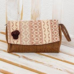 Cotton wristlet handbag,