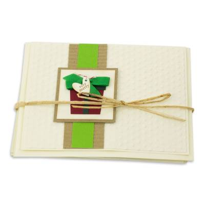Handcrafted Christmas Greeting Cards Envelopes (set of 4)