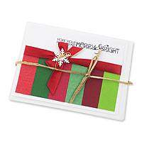 Holiday greeting cards, 'Merry and Bright' (set of 4) - Handcrafted Holiday Greeting Cards Envelopes (set of 4)