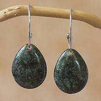 Jade dangle earrings, 'Maya Treasure'