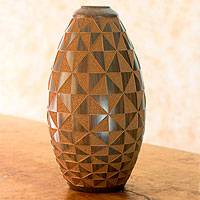 Ceramic decorative vase, 'Kites' - Nicaraguan Ceramic Decorative Vase