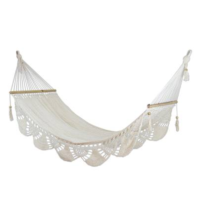 cotton hammock  u0027montelimar sands u0027  single    handmade white cotton hammock from handmade white cotton hammock from nicaragua  single    montelimar      rh   novica