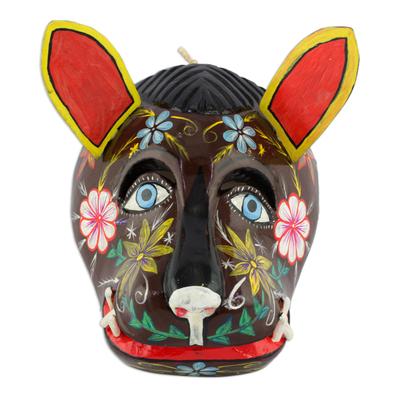 Wood mask, 'Brown Dog' - Guatemala Brown Dog Folk Dance Mask