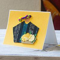 Greeting cards, 'Atitlan Florist' (set of 4) - Handcrafted All Purpose Greeting Cards Envelopes (set of 4)