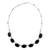 Black jade pendant necklace, 'Ya'ax Chich Mystique' - Black Jade Bracelet Sterling Silver Artisan Jewelry (image 2a) thumbail