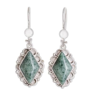 Fair Trade Guatemalan Light Green Jade Earrings