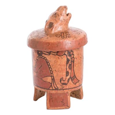 Antiqued Ceramic Vessel Maya Art (large)