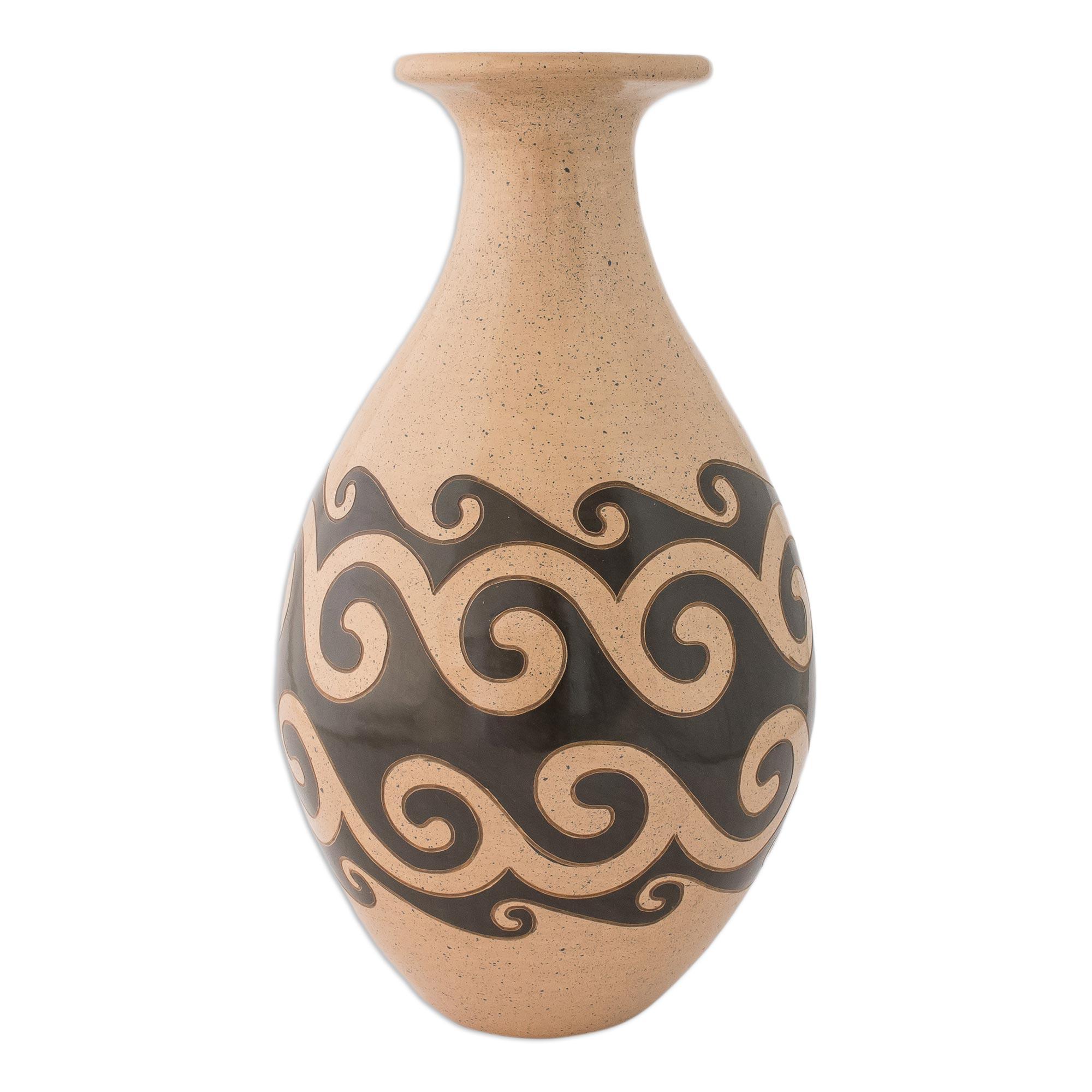 Painted Handmade Ceramic Vase