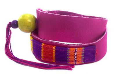 Multicolor Backstrap Woven Cotton Wrap Bracelet
