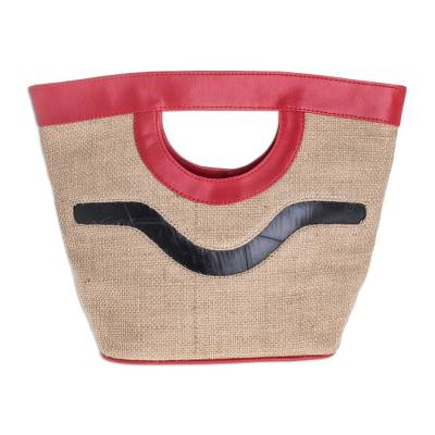 Jute with Recycled Tire Handbag