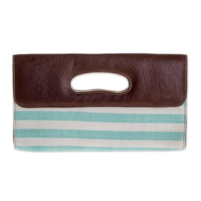 Novica Embroidered clutch handbag, Ravishing Ruby