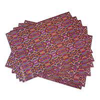 Wrapping paper, 'San Pedro' (6 sheets) - 6 Sheets of Maya Weaving Motif Wrapping Paper