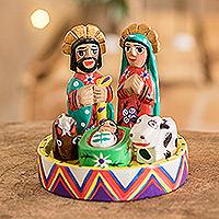 Wood nativity scene, 'Petite Christmas' (set of 7)