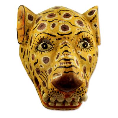 alamy carved mexican art photo stock jaguar mask