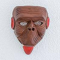 Wood mask, 'Maya Spider Monkey'