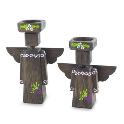 Angel Tea Light Candle Holders (Pair)