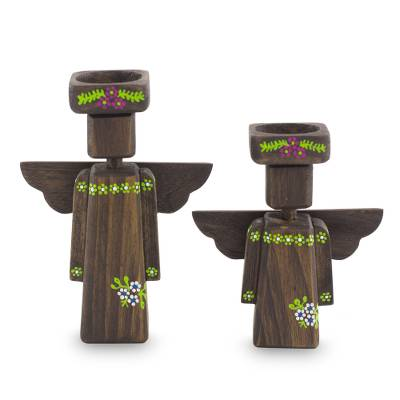 Angel Tea Light Candleholders (Pair)