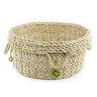 Maguey basket, 'Ecology' - Hand Made Natural Fiber Basket from Guatemala