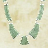 Apple green jade link necklace, 'Queen K'abel'
