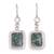 Jade dangle earrings, 'Modern Maya' - Fair Trade Modern Green Jade and Silver Earrings (image 2a) thumbail