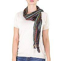 Featured review for Cotton scarf, Valley at Night