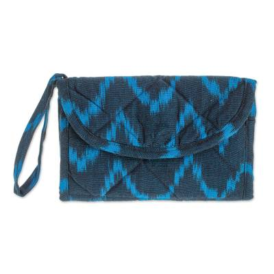 Multi Pocket Hand Woven Padded Cotton Wristlet Purse