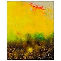 'Dawn' - Original Abstract Landscape in Yellow