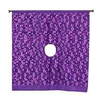 Cotton wall hanging, 'Tactic Lavender' - Backstrap Loom Hand Woven Purple Cotton Huipil Wall Hanging