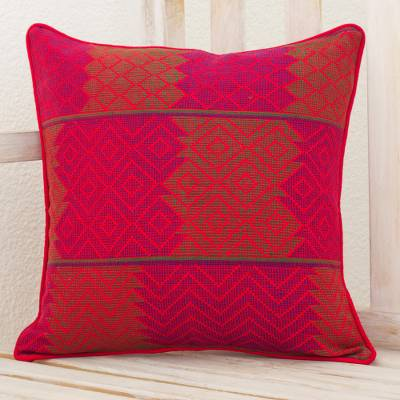 Cotton cushion cover, Red Delight