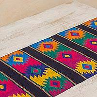 Cotton table runner, 'Dazzling Stars'