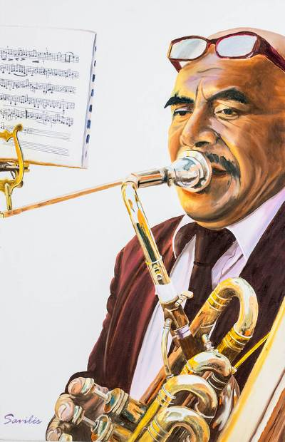 'Sacred Harmony' (2014) - Realistic Guatemala Holy Week Musician Portrait Painting