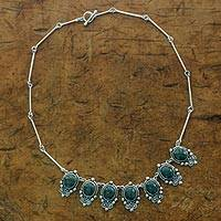 Jade pendant necklace, 'In Praise of Love' - Guatemalan Jade on Sterling Silver Handcrafted Necklace