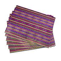 Wrapping paper, 'San Pedro Zigzags' (6 sheets) - 6 Sheets of Maya Weaving Motif Wrapping Paper