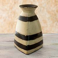 Ceramic vase, 'Lenca Heritage' - Honduran Handcrafted Decorative Vase in Terracotta