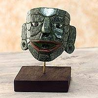 Jade mask, 'Maya Lord of El Naranjo' (medium)