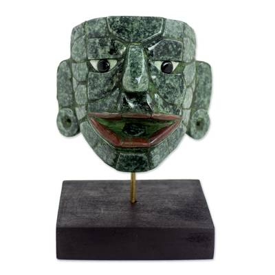 Jade mask, 'Maya Lord of El Naranjo' (medium) - Maya Archaeology Museum Replica Maya Jade Mask