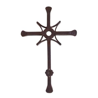 Wrought Iron Wall Cross Artisan Crafted in Guatemala