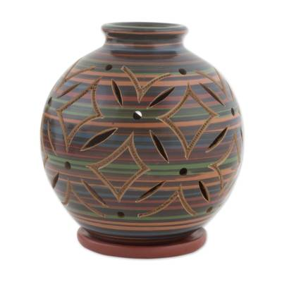 Ceramic Candleholder Handcrafted of Terracotta