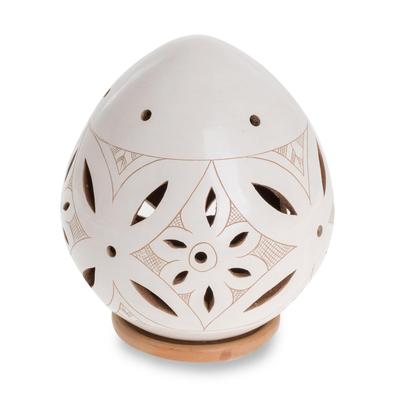 Artisan Crafted Terracotta Tealight Candleholder