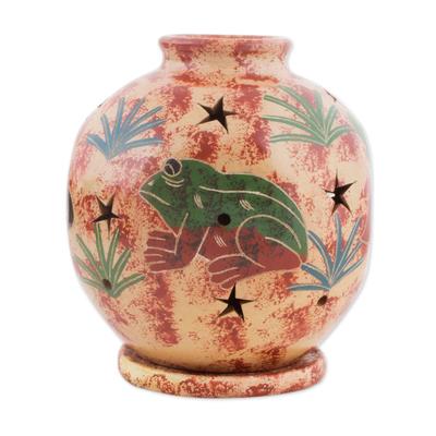 Nicaragua Animal Theme Ceramic Candleholder