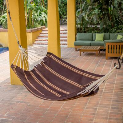 Handwoven hammock, Sandy Path (single)