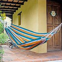 Handwoven hammock, 'Vacation Splendor' (single) - Hand Woven Guatemalan Single Hammock in Vibrant Colors