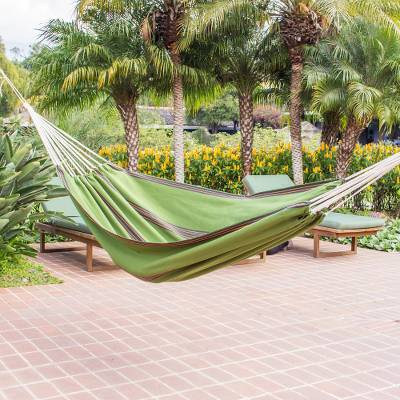 Handwoven hammock, Verdant Tropical Slumber (single)
