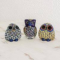 Featured review for Ceramic sculptures, Plumed Friends (set of 3)