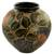 Ceramic decorative vase, 'Butterfly Luck' - Hand Crafted Ceramic Vase with Butterfly and Flowers (image 2b) thumbail